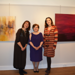 Artist Aysen Abaci at Mill Pond Gallery